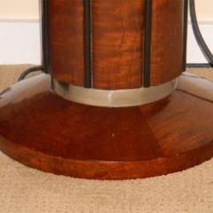 Spectacular Art Deco Floor lamps torchieres two tone wood - 1352512