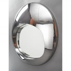 Spectacular Chromed Futuristic Mirror France 1970s - 1633713