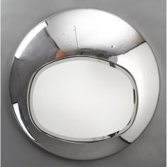 Spectacular Chromed Futuristic Mirror France 1970s - 1633723