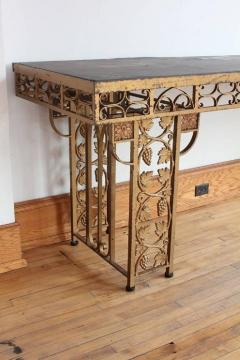 Spectacular French Gilded Wrought Iron Winery Table - 689142