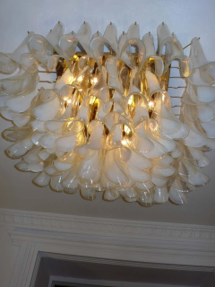 Spectacular Murano Glass Petal Chandelier or Flush Mount - 1525688
