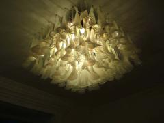 Spectacular Murano Glass Petal Chandelier or Flush Mount - 1525689