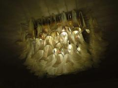Spectacular Murano Glass Petal Chandelier or Flush Mount - 1525691