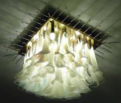 Spectacular Murano Glass Petal Chandelier or Flush Mount - 1525697