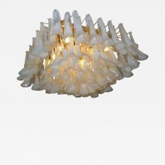 Spectacular Murano Glass Petal Chandelier or Flush Mount - 1525716