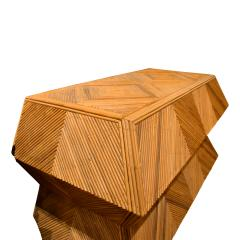 Spectacular Sculptural Chest of Drawers in Bamboo 1970s - 1147723