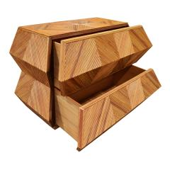 Spectacular Sculptural Chest of Drawers in Bamboo 1970s - 1147725