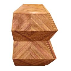Spectacular Sculptural Chest of Drawers in Bamboo 1970s - 1147726