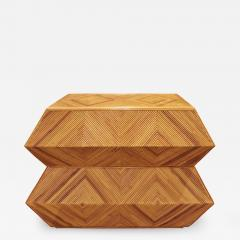 Spectacular Sculptural Chest of Drawers in Bamboo 1970s - 1147970