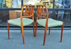 Spectacular Sculptural Set of 6 Model 83 Moller Chairs in Celery Tweed - 2093805