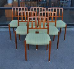 Spectacular Sculptural Set of 6 Model 83 Moller Chairs in Celery Tweed - 2093838
