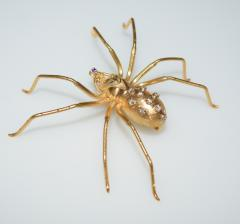Spider 18 K Gold and Diamonds Brooch - 1124170
