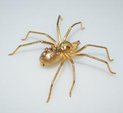 Spider 18 K Gold and Diamonds Brooch - 1124173