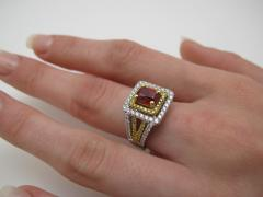 Spinel and Diamond Ring - 1108251
