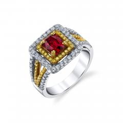 Spinel and Diamond Ring - 1418592