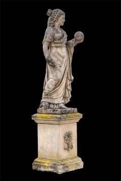Splendid Italian Carved Large Stone Garden Sculpture Symbol of the Science - 1527673
