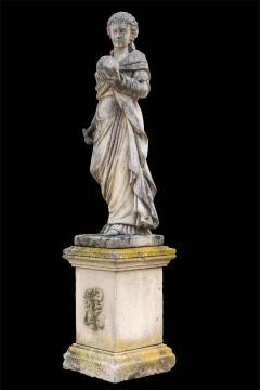 Splendid Italian Carved Large Stone Garden Sculpture Symbol of the Science - 1527678