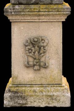Splendid Italian Carved Large Stone Garden Sculpture Symbol of the Science - 1527684