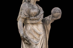 Splendid Italian Carved Large Stone Garden Sculpture Symbol of the Science - 1527687