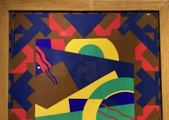 Splendid TORRENTE decorative framed Silk Scarf from Paris France - 2086200