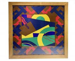 Splendid TORRENTE decorative framed Silk Scarf from Paris France - 2086204