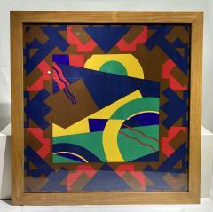 Splendid TORRENTE decorative framed Silk Scarf from Paris France - 2086205