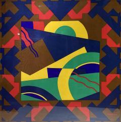 Splendid TORRENTE decorative framed Silk Scarf from Paris France - 2086272