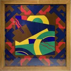 Splendid TORRENTE decorative framed Silk Scarf from Paris France - 2086273