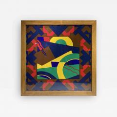Splendid TORRENTE decorative framed Silk Scarf from Paris France - 2086274
