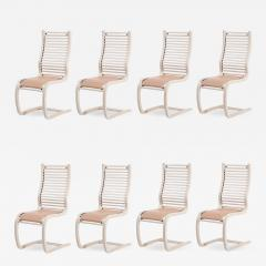 Spring Stol Set 8 Dining chairs by ForaForm Norway 1970 - 2123837