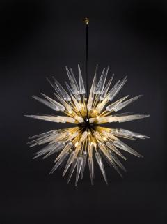 Sputnik Shard Chandelier with Murano Glass and Brass Made in Italy - 1455290