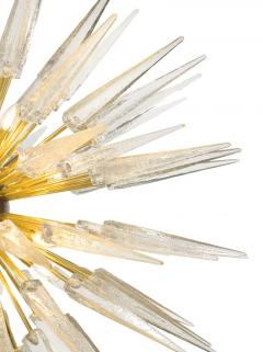 Sputnik Shard Chandelier with Murano Glass and Brass Made in Italy - 1455291