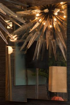 Sputnik Shard Chandelier with Murano Glass and Brass Made in Italy - 1455306