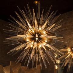Sputnik Shard Chandelier with Murano Glass and Brass Made in Italy - 1455322