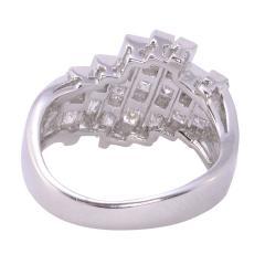 Square Baguette Diamond Platinum Ring - 2061039