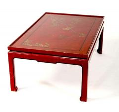 Square Red Lacquered Coffee Table - 1445835