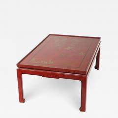 Square Red Lacquered Coffee Table - 1446601