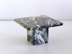 Square Side Table in Green Cipollino Marble Italy 1970s - 1409147