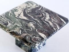 Square Side Table in Green Cipollino Marble Italy 1970s - 1409148
