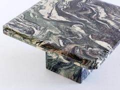Square Side Table in Green Cipollino Marble Italy 1970s - 1409149