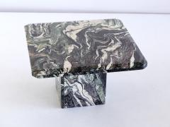 Square Side Table in Green Cipollino Marble Italy 1970s - 1409150