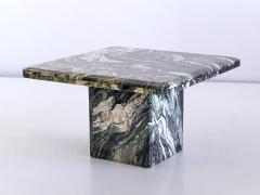 Square Side Table in Green Cipollino Marble Italy 1970s - 1409151