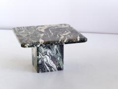 Square Side Table in Green Cipollino Marble Italy 1970s - 1409154