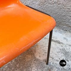 Stackable orange plastic chairs 1960s - 2135202