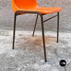 Stackable orange plastic chairs 1960s - 2135204