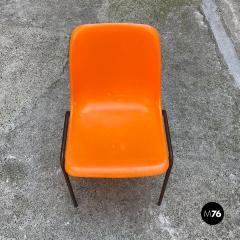 Stackable orange plastic chairs 1960s - 2135205