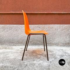 Stackable orange plastic chairs 1960s - 2135209