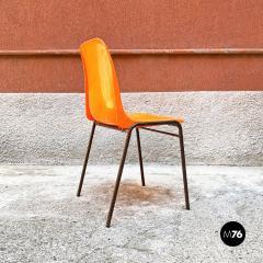 Stackable orange plastic chairs 1960s - 2135227
