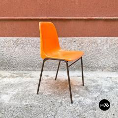 Stackable orange plastic chairs 1960s - 2135228