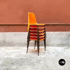 Stackable orange plastic chairs 1960s - 2135250
